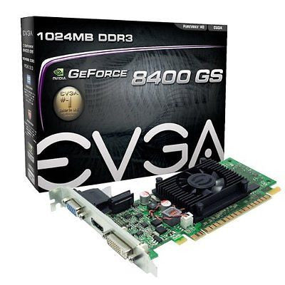 EVGA GeForce 8400 GS 1024MB DDR3 PCI-E 2.0 Graphics Card DVI/HDMI/VGA 01G-P3-130