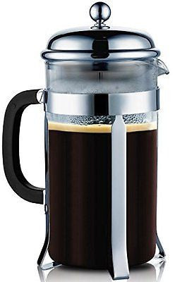 SterlingPro French Coffee Press --8 Cup/4 Mug (1 liter, 34 oz) Chrome
