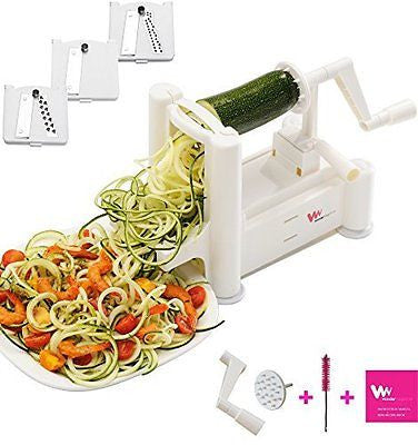 Vegetable Spiralizer Spiral Slicer - Cleaning Brush and 2 Spare Parts