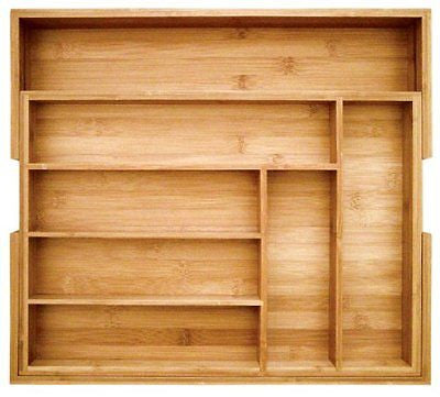 Totally Bamboo Expandable Utility Drawer Organizer Beautiful and Durable Bamboo