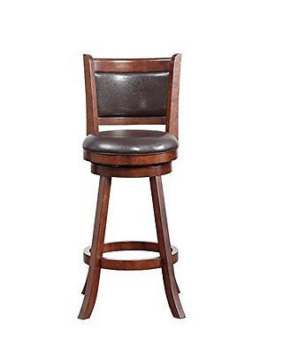 Boraam 06729 Rhea Swivel Bar Stool, 29-Inch, Hazelnut, Set of 2