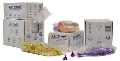 PB060315 Get Reddi Food & Poly Bag 6 x 3 x 15 3.5qt .68mil Clear (Case of 1000)