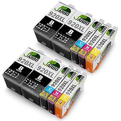 JARBO 2Set+2BK 10 Pack High Yield Replacement for HP 920 Ink Cartridge