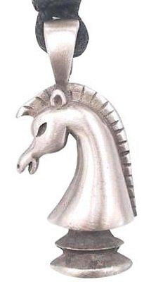 Knight Chess Piece Necklace Pendant, Fine Pewter Jewelry