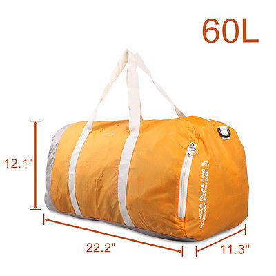 New Foldable Travel Luggage Duffle Bag Gym Carry Suitcase 60L Orange