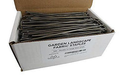 100 Garden Landscape Fabric Staples Strong 11 Gauge Steel 6 Inch Made In USA