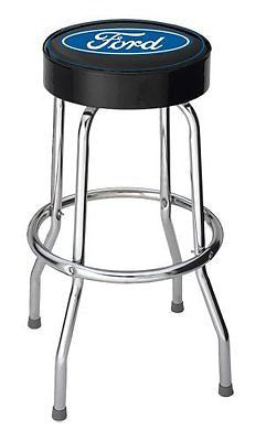 Ford Blue Oval Garage Stool