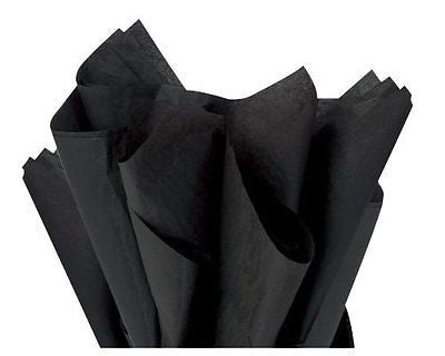 "Brand New Black Bulk Tissue Paper 15"" x 20"" - 100 Sheets"