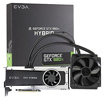 "EVGA GeForce GTX 980 Ti 6GB HYBRID GAMING, ""All in One"" No Hassle Water Cooling,"
