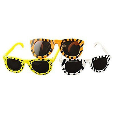 Adorox Animal Print Child Sunglasses Assortment Colorful Fashion Party Favors