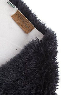 Overland Single-Pelt Australian Sheepskin Rug, BLACK, Size 1 Size