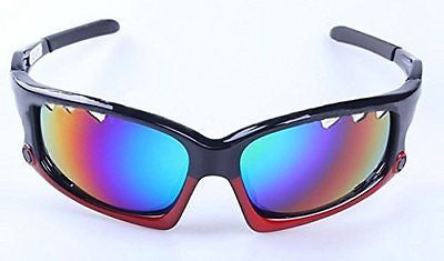 Polarized Lens Safety Sunglasses UV Protect Cycling Eyewear Glasses Color Red