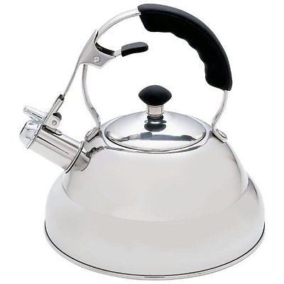Stainless Steel Tea Kettle with Copper Capsule Bottom Mirror Finish 2.75 Quarts
