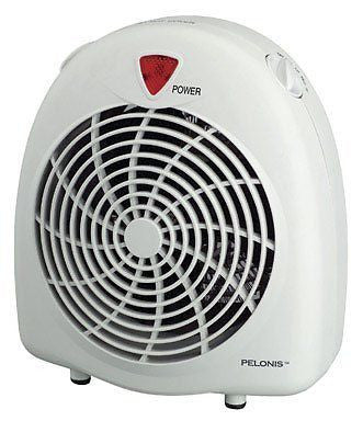 Pelonis Heater & Fan 600/900/1500 W 3 Heat Settings Cool Touch,Off-White