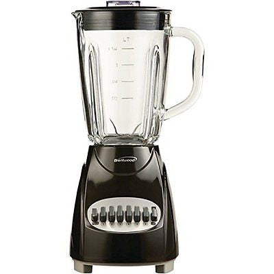 Brentwood Jb-920b 12-speed Countertop Blender With Glass Jar; Black