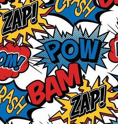 Superhero Gift Wrap Flat Sheet 24