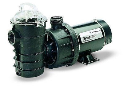 Pentair 340197 Dynamo Pump Single Speed 1-Horsepower 115-Volt with Cord Black
