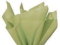 "Brand New Sage Green Light Olive Bulk Tissue Paper 15"" x 20"" - 100 Sheets"
