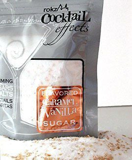 Caramel Vanilla Cocktail Sugar, drink rimmer (Pack of 3)