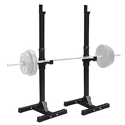 F2C Pair of Adjustable Rack Sturdy Steel Squat Barbell Free Bench Press Stands
