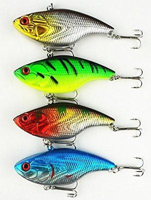 Pack of 8 Sinking Rattling Wiggler Crankbaits Hard Fishing Lures Wobbler