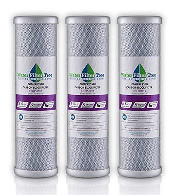 3 X Universal 10 inch Carbon Block filter cartridge - replaces DuPont WFPFC8002