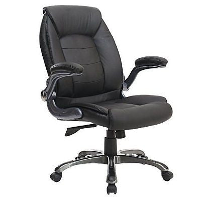 Middle Back Ergonomic Leather Office Executive Chair Office Desk Chair