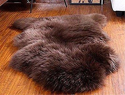 SCLM Genuine Sheepskin Rugs - Single (Brown)