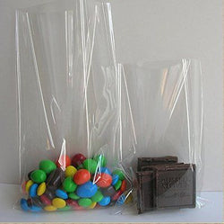 100x Clear Flat Cello/Cellophane Treat Bag 6x8 inch(1.2mil) Gift Basket