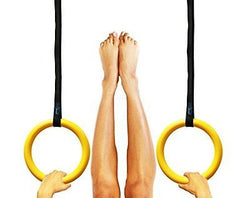 Gymnastic Rings with Straps - Crossfit Training Workout Rings
