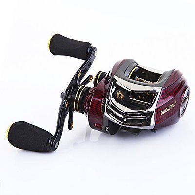 Baitcasting Reel 17+1 Ball Bearings Fishing Reels Coil Gear Ratio 6.3:1