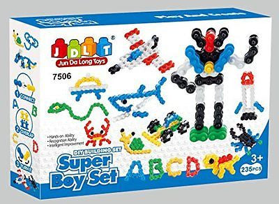 Super Toy Creativity Chain Links play set - Building block mega 235Pcs toy set
