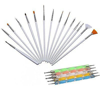 Nail Art Brushes Set, WOVTE Gel Acrylic Drawing Makeup Brushes Set