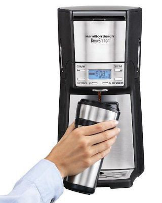 Hamilton Beach 12-Cup Coffee Maker, Programmable Brewstation Dispensing Coffee