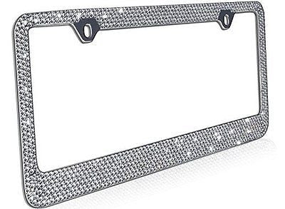 OxGord? Rhinestone License Plate Frame Metal Chrome Diamond Bling Glitter
