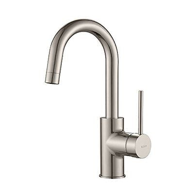 Kraus KPF-2600SS Modern Mateo Single Lever Kitchen Bar Faucet Stainless Steel
