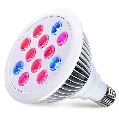 LED Grow Lights Bulb For Indoor Plants Hydroponic 12W Garden Growing Light Lamp