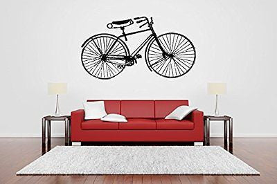 Wall Room Decor Art Vinyl Sticker Mural Decal Antique Vintage Bicycle Bike Big