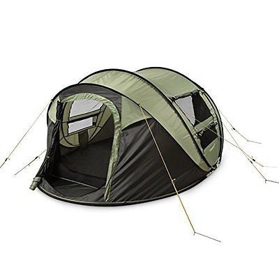4-Person Instant Pop-Up Tent- Great Family Outdoor Camping Tents Shelters
