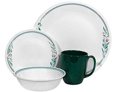 Livingware 16 piece Dinnerware Set Service for 4 Rosemarie