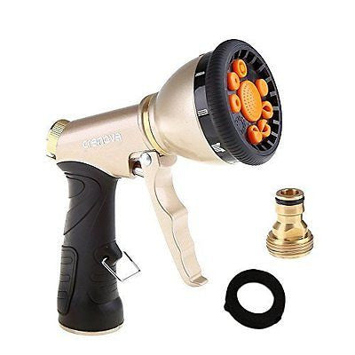 Crenova Garden Hose Nozzle Sprayer Cleaning Spary Gun 9 Sparying Settings