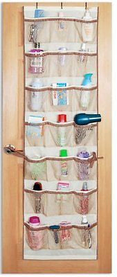 Pro-Mart DAZZ 42-Pocket Over-the-Door Organizer, Beige