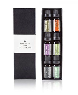 Aromatherapy Top 6 100% Pure Therapeutic Grade Basic Essential Oil Gift Set