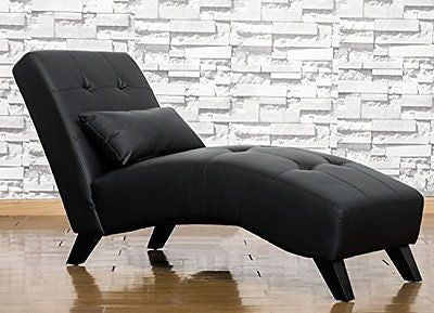 ¡¾2016 GREAT SALE¡¿Merax Luxurious Bonded Leather Lounge Chaise Sofa Chair ,Blac