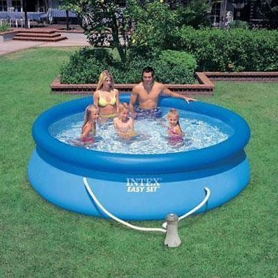 "Intex Easy Set 10' X 30"" Swimming Pool with Filter Pump & Setup Video"
