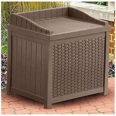 SSW1200 Mocha Resin Wicker 22-Gallon Storage Seat
