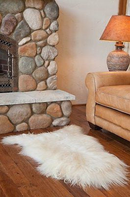 Overland Single-Pelt Icelandic Sheepskin Rug, WHITE, Size 1 SIZE