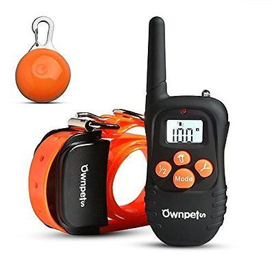 [Upgraded Version] OWNPETS? Rechargeable 330 Yards Remote Dog Training Shock