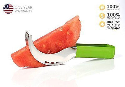 cGoods - As Seen on TV - Watermelon Knife & Slicer. Perfect Fruit Cutter, Tongs
