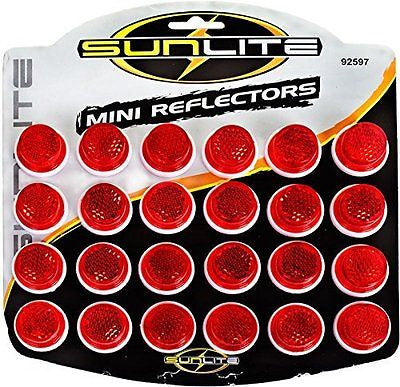 "Sunlite Carded 1"" Reflectors, Card of 24"